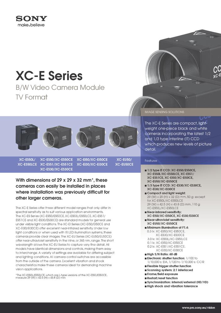 XC-E Series Datasheet - JenCam